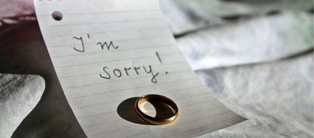 Verlater schuldgevoel relatie verbroken sorry